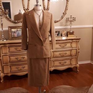 Brooks brothers 100% camel hair suit women skirt